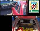 Polícia Militar apreende 61 kg de maconha em veículo furtado