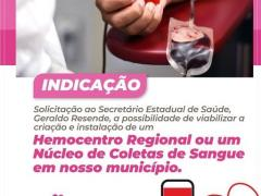 Janete Cordoba solicita hemocentro para Amambai
