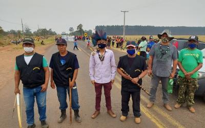 Indígenas fecham rodovias nesta quarta (15)