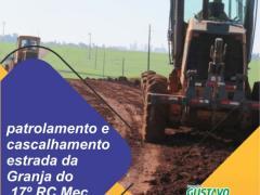 Gustavo Baiano solicita cascalhamento e patrolamento na V.Santo Antônio