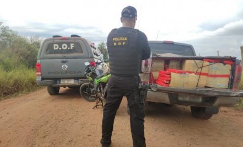 Camionete furtada foi recuperada pelo DOF em Amambai com quase duas toneladas de maconha
