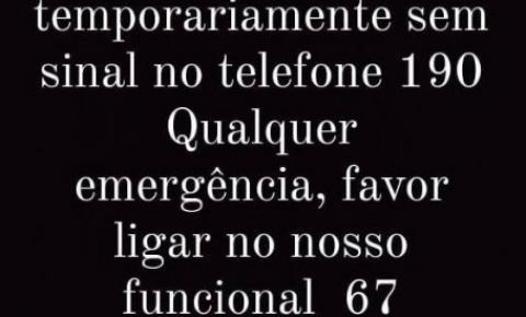 Sem o 190, Polícia Militar disponibiliza telefone para casos de emergência