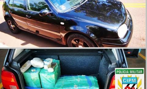 Polícia Militar prende casal transportando 140 quilos de maconha