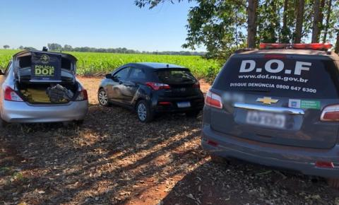 DOF apreende em Amambai veículo que seguia para o RS carregado com maconha