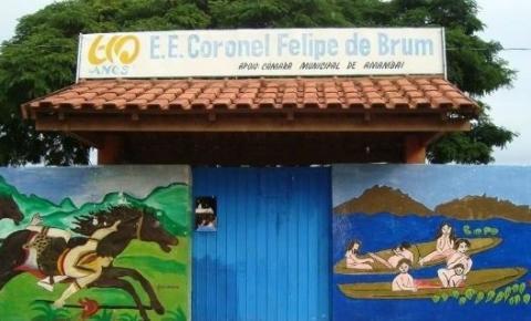 Vereadora Cida Farias pede reforma e modernização da Escola Estadual Coronel Felipe de Brum de Amambai