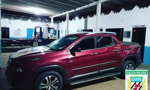 Polícia Militar recupera veículo roubado em Goiás
