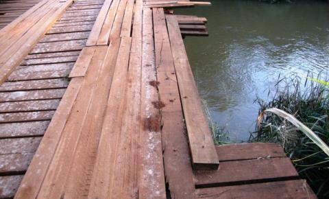 Vereador Geverson Vicentim pede substituição de pontes de madeira