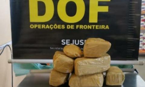 DOF prende em Amambai mulher que seguia para o RS com pasta base de cocaína