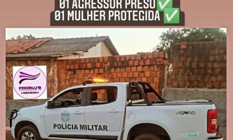 Polícia Militar prende agressor de violência doméstica
