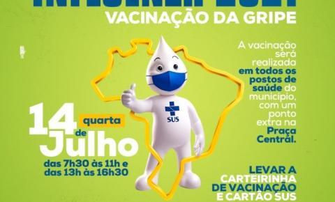 Secretaria de Saúde realiza vacinação contra Influenza (Gripe) nesta quarta