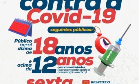 Prefeitura realiza Dia D de vacinação contra a COVID-19 nesta sexta-feira