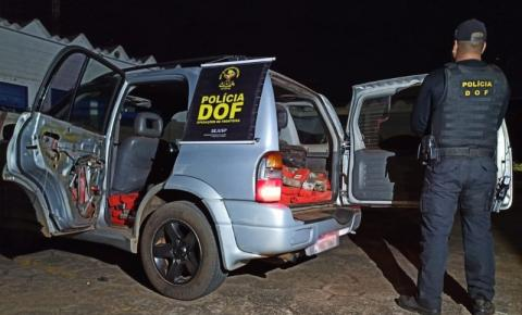 Veículo carregado com mais de 250 quilos de maconha foi apreendido pelo DOF