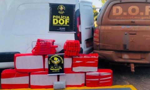 Veículo com mais de 200 quilos de maconha foi apreendido pelo DOF em Amambai