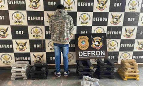 Polícia fecha depósito e prende traficante com 60 quilos de maconha em Amambai