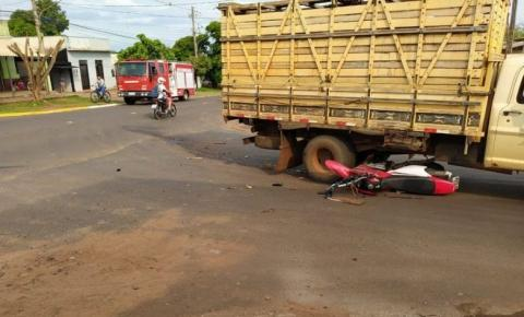 Corpo de Bombeiros socorre jovem vítima de acidente em Amambai