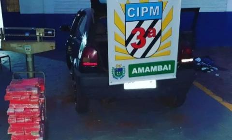 Polícia Militar apreende maconha durante abordagem a veículo em Amambai